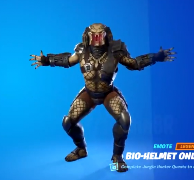 You can now face Predator in Fortnite