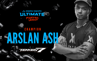 Arslan Ash has won the WePlay Ultimate Fighting League Season 1 Tekken 7 Event