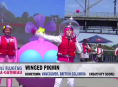 A winged Pikmin at the Red Bull Flugtag